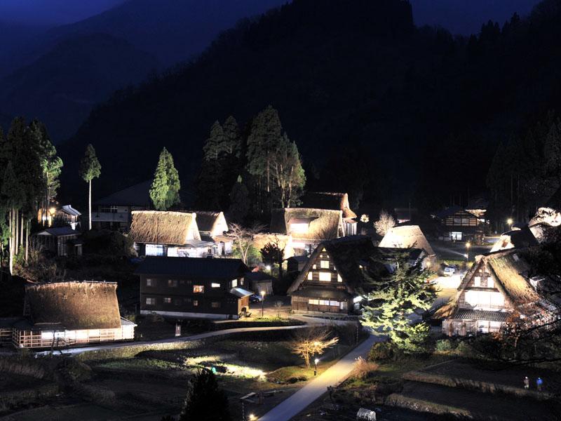 五箇山ライトアップA021